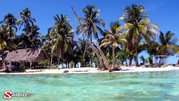 Belize, Tiny Cay, Snorkeler\\\'s View
