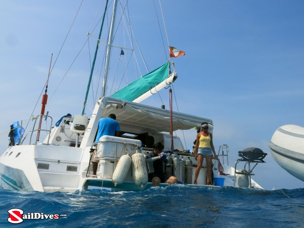 Belize, Diving from the Yacht
