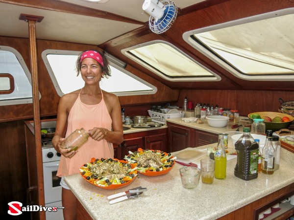 Belize, Lunch on Board, Chef, Freshly Prepared Meals