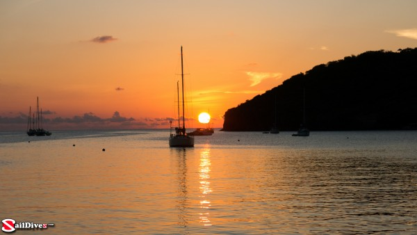 Sunset in Admiralty Bay in Bequia