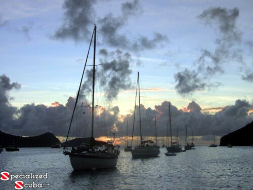 Bequia at dusk