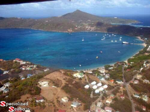 Bequia from the sky