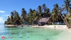 Belize, Tiny Cay, Thatched Hut