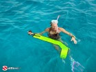 Belize, Snorkeling, Snorkeler in Water