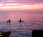 Enjoying sunset in Bon Accord Lagoon - Tobago